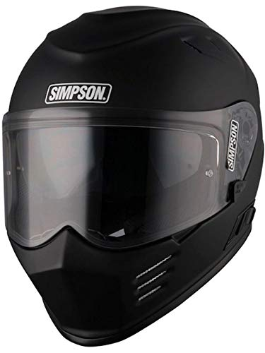Simpson Casco Moto 2018 Venom Solid Matt Nero (Xxl, Nero)