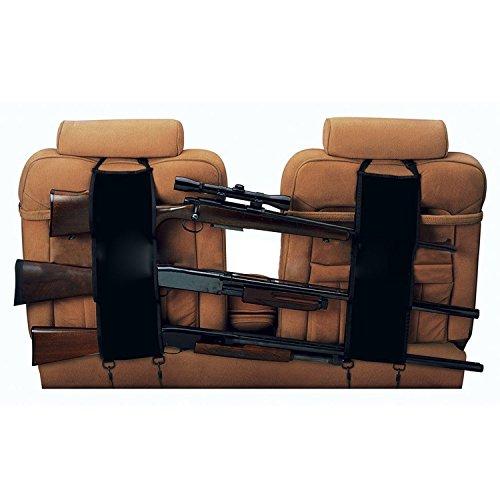ishowstore 1Paar Auto Sitz Zurück Gun Sling Aufhänger Organizer Rack Aufbewahrungstasche für 3Jagd Gewehre/Schrotflinten/Schusswaffen im Auto Truck SUV DNW Tonabnehmer Mini Vans Jeeps