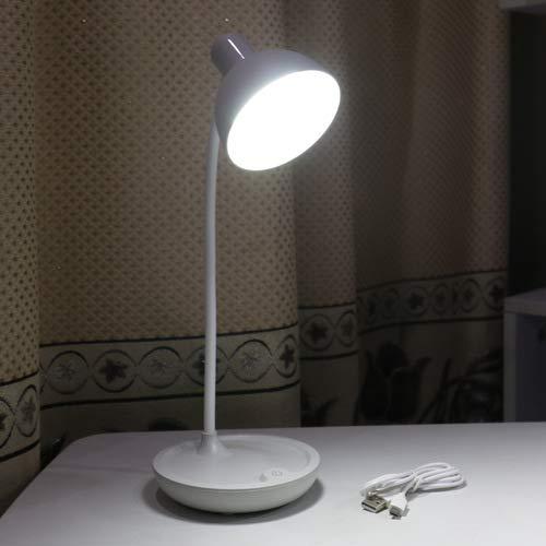 Neue usb lade runde lagerung schlafzimmer nachttischlampe student schlafsaal schreibtisch led lesen augenschutz tischlampe 589 grau runde lampe 11 * 14 * 41 cm -