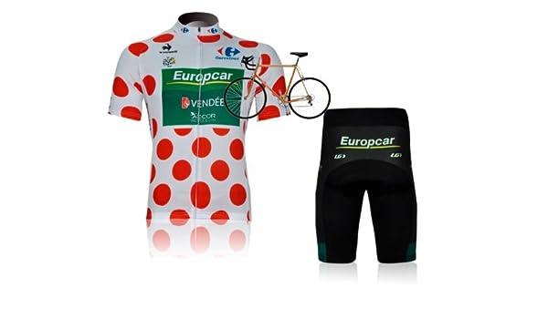 New Design Mens Cycling Wear Suit Europcar Cycling Jersey Set Short