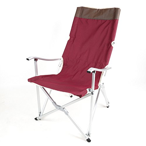 GFL Chaises Chaise Pliante en Plein air en Alliage d'aluminium Portable Adulte Chaise de pêche préside Ultra-léger Simple ménage Esquisse Chaise Occasionnelle (A++) (Couleur : Vin Rouge)