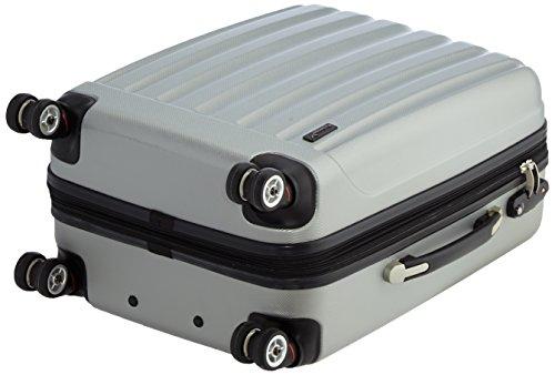 Packenger Velvet Koffer, Trolley, Hartschale  L in Silber.   50x34x23cm -