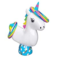 Summertastic Inflatable Ring Toss Unicorn Quoits Kids Beach & Garden Throwing Game