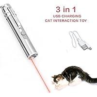 FEICHAO Jouet interactif pour chat, avec voyant LED - À attraper - Exercices et entraînement pour animaux domestiques - Rechargeable