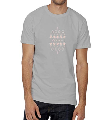 Almonds Healthy Food Nuts_004587 Ugly T-Shirt Birthday for Him LG Man Grey