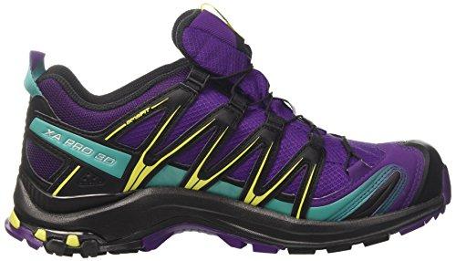 Salomon Scarpe Femminili Per La Corsa E Trail Running Xa Lite Gtx Viola (acai / Negro / Dinastía Acai Verde / Negro / Dinastía Verde)