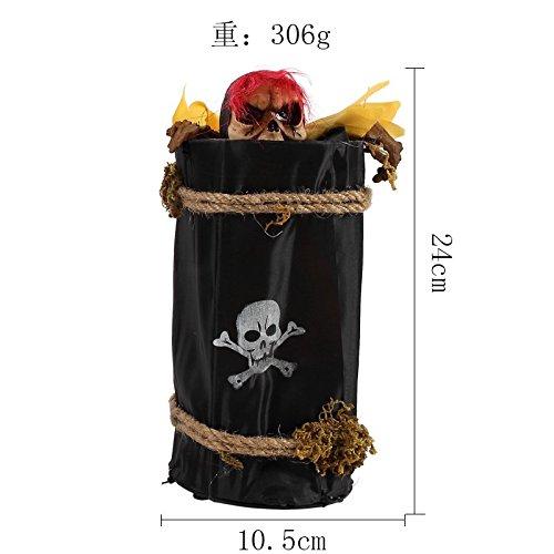 uisiten Bar, KTV, in hellen eingerichteten emittierende sound Power Lift Hexe Skelett und Ornamente liefert, H6 gelb) und Ghost (Halloween Skelett Requisiten)