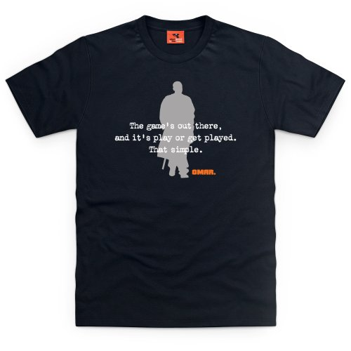 Official The Wire T-Shirt - Omar Played, Herren, Schwarz, L