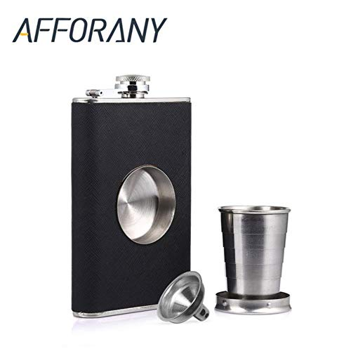BcttlupFCB 8oz Flagon Hip Flask Wine Pot Whiskey Stainless Steel Folding Cup Leak Proof Barware Drink Alcohol Whisky Outdoor Liquor Funnel,Hip Flask Flask Pots
