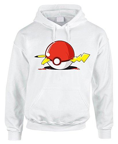 Felpa con cappuccio Pokémon Pokeball Pikachu- cartoon cartoni - in cotone by Fashwork