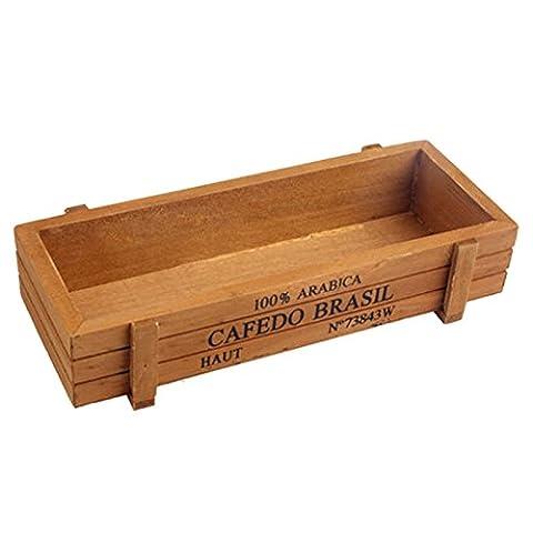 Nouvelle jardinière en bois boîte jardinière rectangle jardin plante jardinière succulent pot