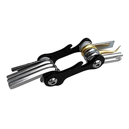 Homyl Professionelle 8 in 1 Multi-Tool Multitools Multiwekzeug Multifunktionswerkzeuge Taschenwerkzeug für Tauchen Schnorcheln - Schwarz