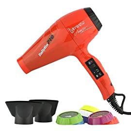 babyliss pro hairdryer bab6350ioe luminoso arancio - orange - 41y5MnpDJ L - BaByliss Pro Hairdryer BAB6350IOE Luminoso Arancio – Orange