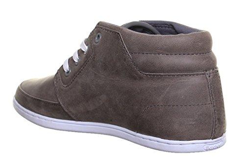 Boxfresh Eavis - Sneaker da uomo mod. Chukka, in pelle, media altezza, colore: Grigio Grigio (grigio)