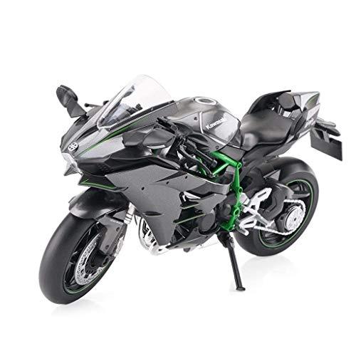 Maisto Skala Motorradmodell 1:12 Kawasaki H2 Straßenlokomotive Simulation Motocross Motorrad Diecast Modell Racer Dirt Bike Auto Spielzeug Simulation Miniaturmodelle Fahrzeuge (Bike-skala)