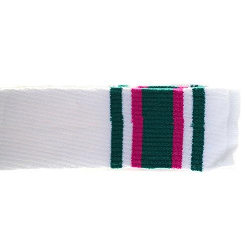 Choobes (Unisex 35 Zoll Oberschenkel High White Tube Socken mit Knickenten/Pink ()