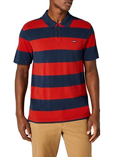 Levi's Herren Housemark Polo Poloshirt, Mehrfarbig (Rugby Dress Blues/Aura Orange 0073), Small