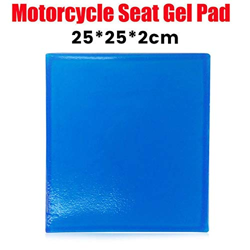 Lucky-all star Motorrad Sitz Gel Pad - Stoßdämpfungsmatte weiches Kissen blau, bequem weich kühlen Kissen, DIY Motorrad Sattel (mehrere Größen) - Gel-sitz Motorrad Für