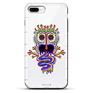 Luxendary Trippy Psychodelic Screaming Monster Air Series Designer Case with Air-Pocket Cushions for iPhone 8/7 Plus - Clear