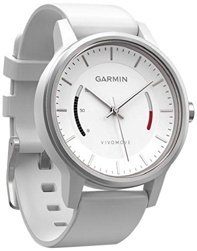 Garmin Vívomove WW, White with Sport Band Fitness-Tracker Im Klassischen Uhrendesign, Weiß, Regular
