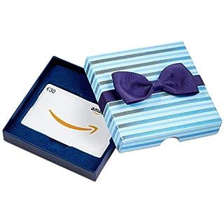Amazon.de Geschenkkarte in  Geschenkbox - 30 EUR (Blaue Streifen)