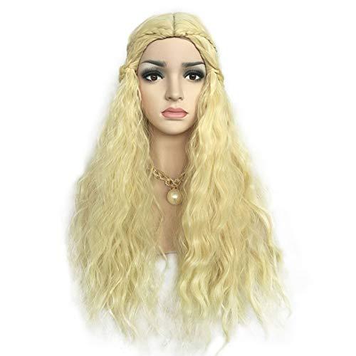 L-SLWI Frauen Lange lockige Haare Perücke, Rollenspiele Hochtemperatur-Seide Chemiefaser Haar Frau synthetische (Besten Schwulen Halloween Kostüme)