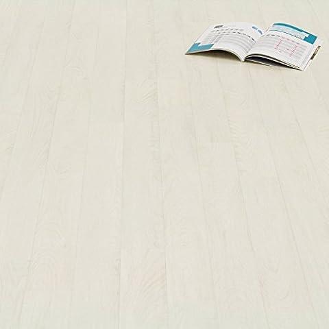PVC Bodenbelag Holz Planken Weiss Gekalkt Breite 4 m (9,95 € p. m²)
