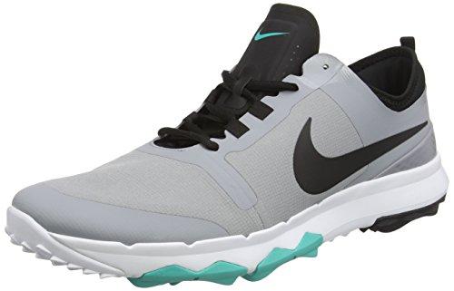 Nike Herren Fi Impact 2 Golfschuhe, Grau (Stealth/Black/Clear Jade/White), 45 EU