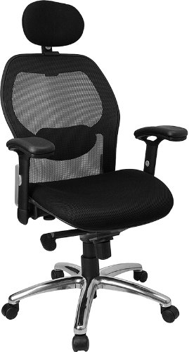 flash-furniture-lf-w42-hr-gg-high-back-super-mesh-office-chair-with-black-fabric-seat-and-knee-tilt-