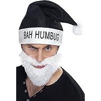 Smiffys Bah Humbug Kit, Black, with Hat, Beard & Glasses