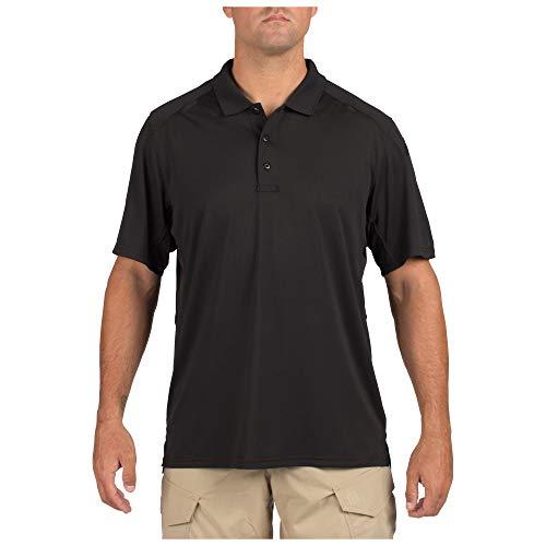 5.11Herren Helios Short Sleeve Polo Shirt Größe L Schwarz