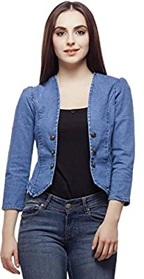 Westa Clothing Women's Denim Shrug(Wcsh001_Blue_Multi)