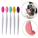 GingerUP 5pack Dog toothbrush, Double-sided soft silicone gentle dental brushes kit with curved