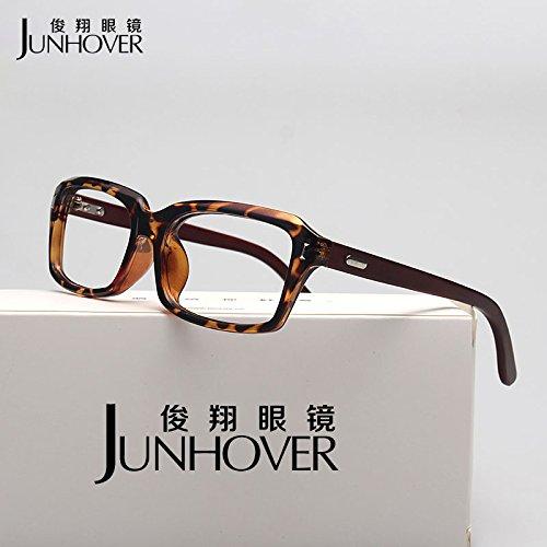 BM authentische Vintage holzbein Brille Frame weibliche kurzsichtigen Trendsetter großes Gesicht optische Bild großen, flachen Spiegel,dunkelgelb.