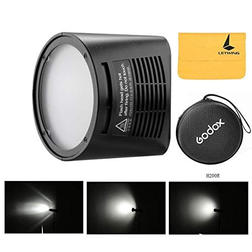 Godox H200R Ring Flash Kopf mit 200Ws Starke Power und natürliche Lichteffekte für Godox AD200 Pocket Flash, Licht und Portable, die gleichmäßige und weiche Lichteffekte für die Aufnahme bietet Flash Head