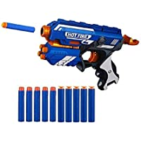 Storio Toys Blaze Blaster Storm Hot Fire Shooting Toy Gun with 10 Soft Foam Bullets Perfect Guns for Boys Kids