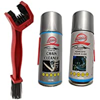 Grandbiker Combo Chain Cleaner Spray & Lube (150ml each) and Bike Chain Cleaning Brush