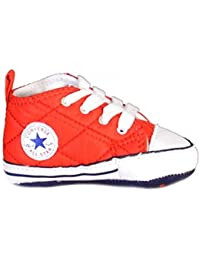 Converse Converse Baby Boys Chuck Taylor All Star Crib Shoes (Infant) (3 M US Infant Casino/Navy/White)