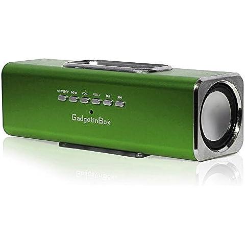 GadgetinBox - Casse con docking station per Apple iPhone 5 e iPod 5 Gen Verde
