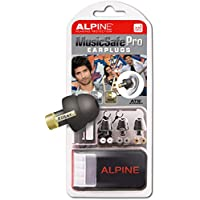 Alpine MusicSafe Pro Ear Plugs - Designed for musicians - Three interchangeable filter sets - Comfortable hypoallergenic material - Reusable earplugs - Black