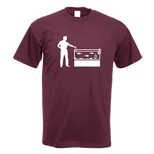 Kiwistar Aquaristik Fische Aquariums T-Shirt Motiv Bedruckt Funshirt Design Print