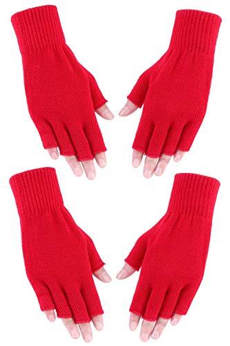 Amorismo Fingerlose Handschuhe Sind Weich Damen Rot