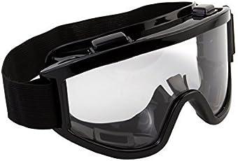 Emndr Adult Motorbike ATV/Dirt Bike Racing Transparent Goggles with Adjustable Strap - Black