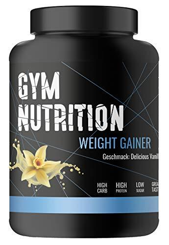 PREMIUM WEIGHT - GAINER - ideal für Body-Builder & Hard-Gainer, die Gewicht aufbauen wollen - Mass & Muscle Powder - Made in Germany - 1-kg, Geschmack: DELICIOUS VANILLA (Frauen Weight Gain Pulver)