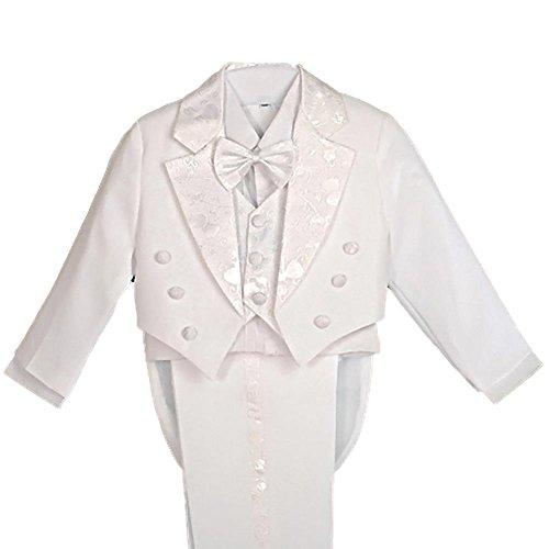 Lito Angels Completo elegante per bambini, per paggetti e il battesimo, set da 5 pezzi White (With Waistcoat) 8 Anni
