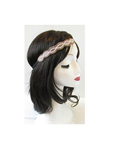 Bronze Or Rose Perles Ivoire Bandeau élastique Boho Style vintage années 1920 Flapper mer * * * * * * * * exclusivement vendu par – Beauté * * * * * * * *
