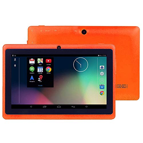 Günstiges Handy, 7 Zoll HD Ultra Screen Display, Google Android 4.4 Duad Core Tablet PC 1 GB RAM + 8 GB ROM Dual-Kamera (Orange)