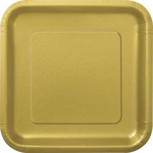 Unique Party 33240 - Paquet de 16 Assiettes Carrées en Carton - 18 cm