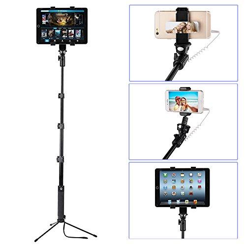 selfie-stick-monopiede-tripod-kit-ohcome-batteria-libero-wired-portatile-in-alluminio-monopiede-con-
