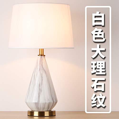 Lámpara de mesa de cerámica posmoderna de lujo ligera Lámpara de noche...